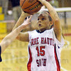 Jumper: Terre Haute South's #15, Haley Seibert shoots a short range jumpshot and scores during action against Terre Haute North Wednesday evening.