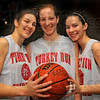 Teamwork: Sisters Chelsea, Adrainne and Meghan Francis will be playing with the rest of the Turkey Run girls basketball team for a semi-state title this weekend.
