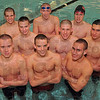 Not done: Terre Haute South swimmers that will compete in the state finals include: First row: Lance Jennings, Thomas Weber and Matthew Shaver. Second row: Ryan Wisbey, Daniel Card and Brett Glendening. Back row: Matthew Kendall, Alex Linkenheld and Addison Bray.