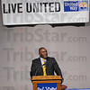 Noted: Anthony Thompson, football standout at Terre Haute North High School and Indiana University was the keynote speaker at the United Way annual meeting Monday night in the Hulman Center. Thompson now pastors a church in Bloomington.