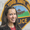 New officer: Brittany Coffman was sworn-in as Terre Haute's newest police officer Monday morning.