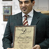 Award: R.C. Sayyah received the unsung hero award Monday afternoon.