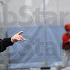 That way: Rose-Hulman head baseball coach Jeff Jenkins gives direections to his team during indoor practice Tuesday afternoon.
