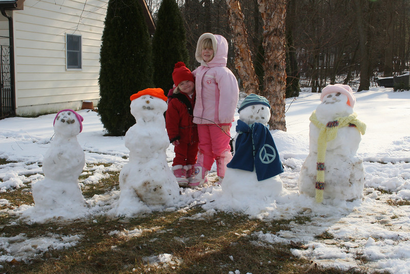 Okay- so the snowmen are a little lopsied and crazy, but it was fun!