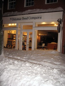 The Potomac Bead Company from King Street (11:01pm on Saturday, Feb. 6)