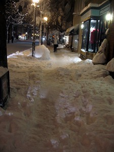 King Street Sidewalk (8:50pm on Saturday, Feb. 6)