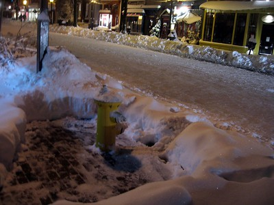 King Street fire hydrant (8:52pm on Saturday, Feb. 6)