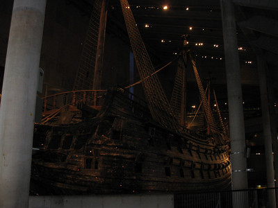 Vasa... on ground.. not longer under water