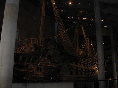Vasa... on ground.. not longer under water