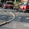 Water filling the first hydrant line.