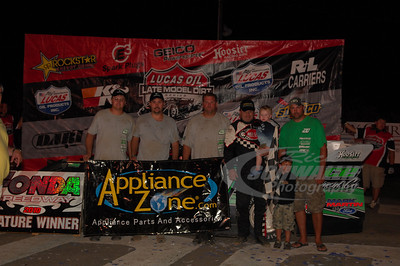 Jimmy Owens and crew in Victory Lane @ Fonda Speedway