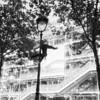 street performer outside centre pompidou