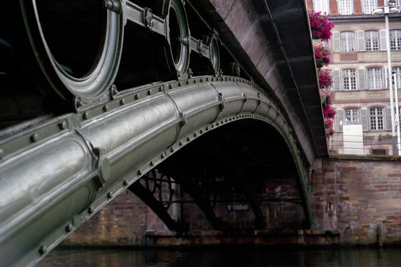 a cast iron bridge: pont saint-thomas, strasbourg