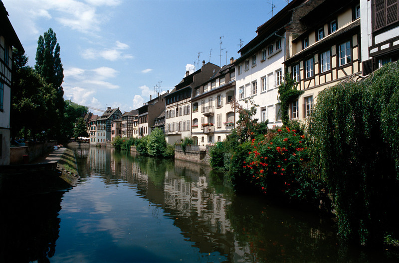 on the canal, strasbourg