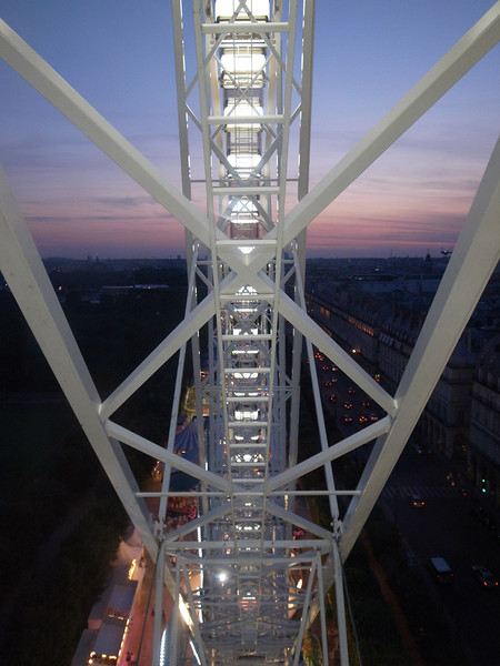 ferris wheel, tuileries gardens, paris