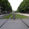 grass between the tracks, strasbourg light rail
