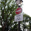 In Paris, bicycles may now travel either direction on one-way streets.