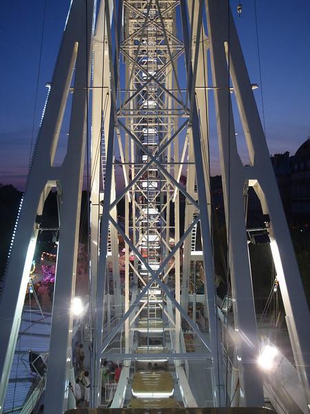 ferris wheel, tuileries gardens, paris