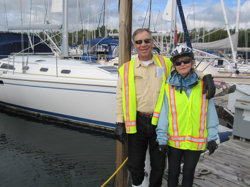 DOUG & PAM ON THE DOCKS AT THE MARINA