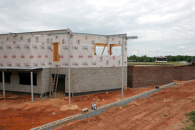 04-27-2010: Contruction on John Henry Moss Baseball Stadium.