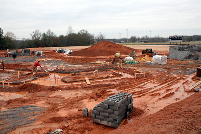 12-04-2009: Contruction on John Henry Moss Baseball Stadium.