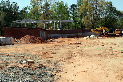 04-06-2010: Contruction on John Henry Moss Baseball Stadium.