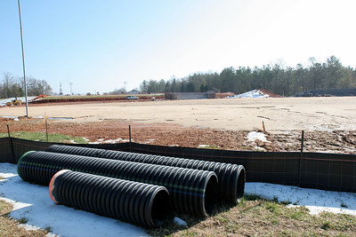 12-22-2009: Contruction on John Henry Moss Baseball Stadium.