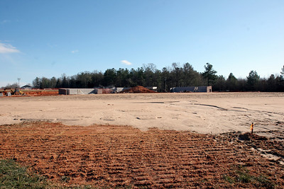 01-05-2010: Contruction on John Henry Moss Baseball Stadium.