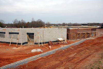 03-17-2010: Contruction on John Henry Moss Baseball Stadium.