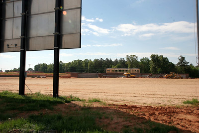 04-17-2010: Contruction on John Henry Moss Baseball Stadium.