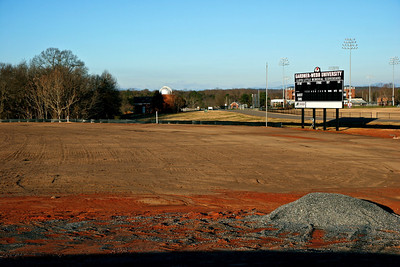 01-26-2010: Contruction on John Henry Moss Baseball Stadium.