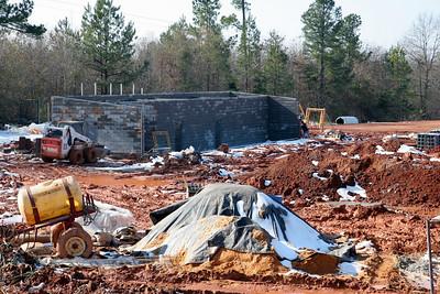 12-22-2009: Contruction on John Henry Moss Baseball Stadium.