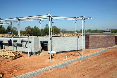 04-06-2010: Contruction on John Henry Moss Baseball Stadium.