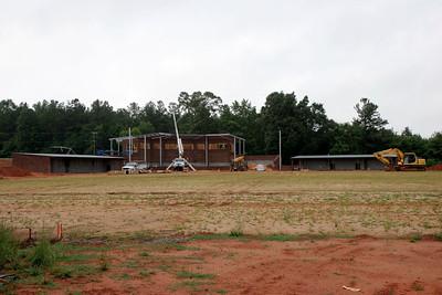 05-25-2010: Contruction on John Henry Moss Baseball Stadium.