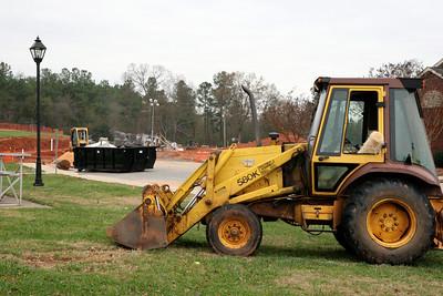 12-04-2009: Contruction on John Henry Moss Baseball Stadium.