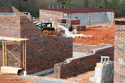 03-17-2010: Contruction on John Henry Moss Baseball Stadium.