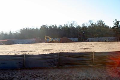 01-26-2010: Contruction on John Henry Moss Baseball Stadium.