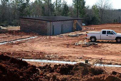 03-04-2010: Contruction on John Henry Moss Baseball Stadium.
