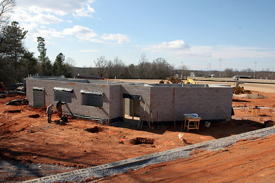 03-04-2010: Contruction on John Henry Moss Baseball Stadium.