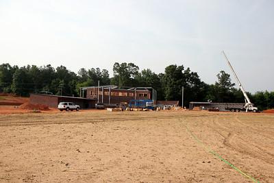 05-14-2010: Contruction on John Henry Moss Baseball Stadium.