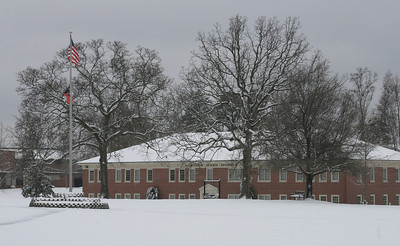 With the temperature below 30 degrees, the snowy Quad was nearly devoid of students enjoying the snow Saturday afternoon.