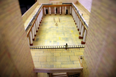 Herodian Temple Mount Model: First Century. Housed in the Gardner-Webb Dover Library until Spring 2010.