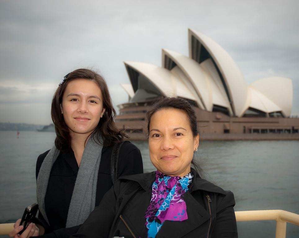Mother and daughter - harbour cruise