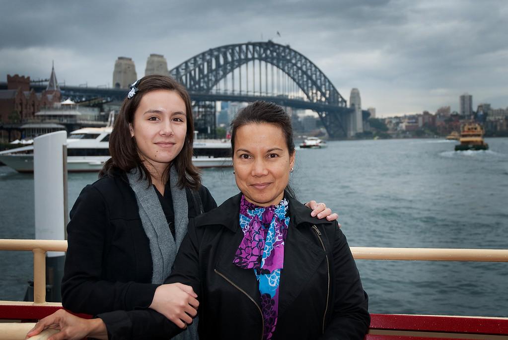 Hailey and Arlene - harbour cruise
