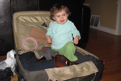 Dad's suitcase is so much fun :)
