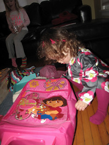 Dora suitcase...but, what's inside?