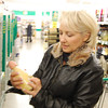 """Mom looking at """"Egg Liquor""""... which I found out later is kinda like Eggnog.."""