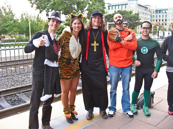 Halloween Beer Train crew