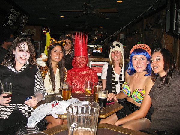 Zombie girls, crazy animals, and sexy singers.  From left to right: Zombie (Shauna), Tiger, Lady Gaga (Emily), Panda (Sammi), Katy Perry (Adrienne), and Ms. Kardashian (Fanny)