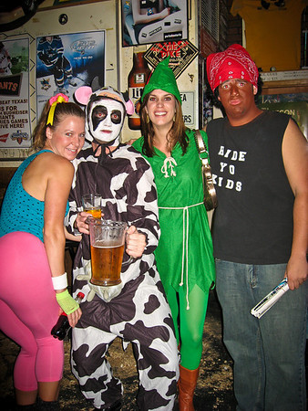 Too bad I cut off Susannah's hot @$$ here. Todd's cow costume is amazing as well